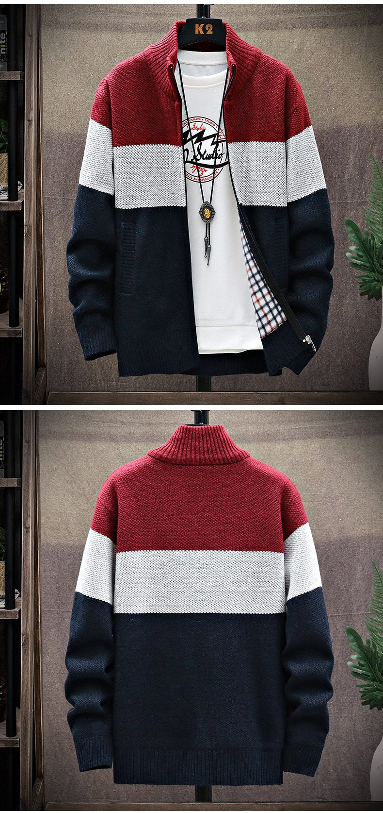 Men Spring Knitted Cardigan Sweaters